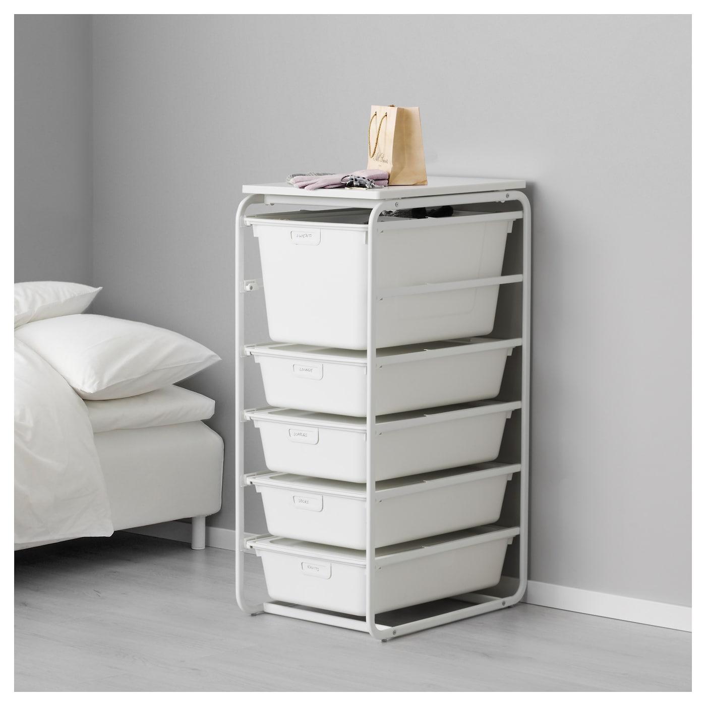 ALGOT, Rahmen/5 Boxen/Deckplatte, weiß | Ikea - Tipps vom Einrichter