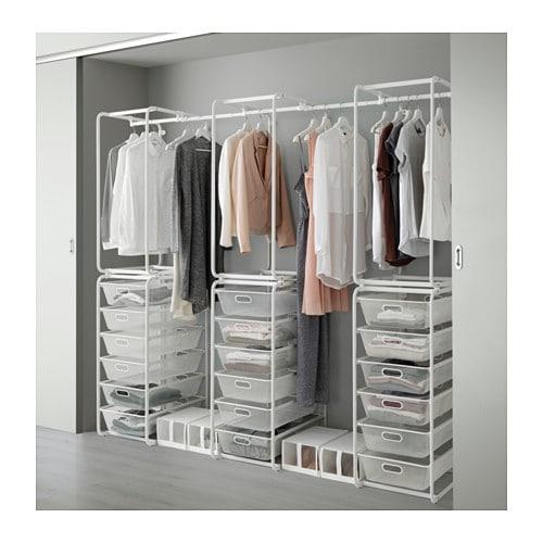 Begehbarer kleiderschrank ikea algot  ALGOT Rahmen/Netzdrahtkörbe/Stange - IKEA