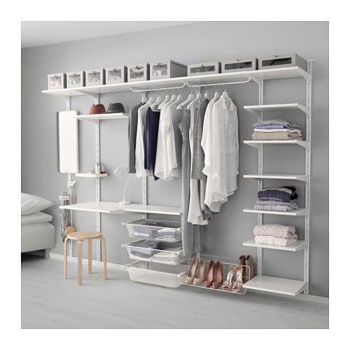 Begehbarer kleiderschrank ikea algot  ALGOT Wandschiene/Boden/Dreierhaken - IKEA