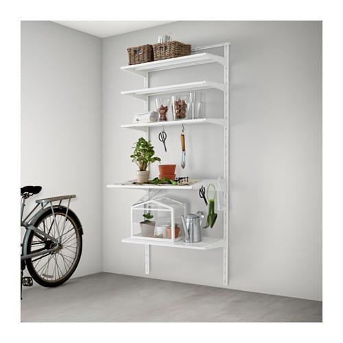 algot wandschiene boden haken ikea. Black Bedroom Furniture Sets. Home Design Ideas