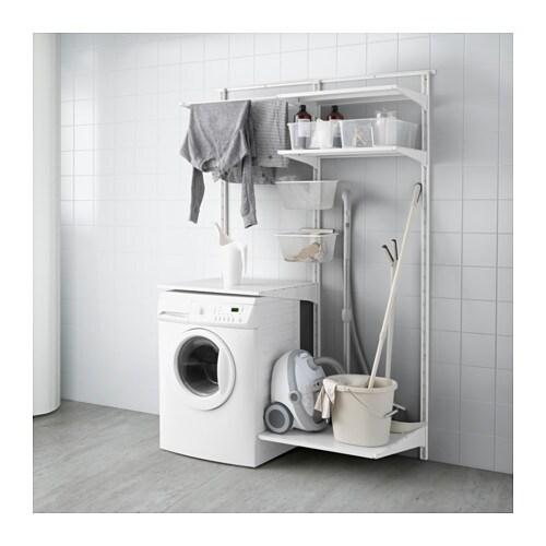 Wandregalsystem ikea  ALGOT Wandschiene/Böden/Wäschehalter - IKEA