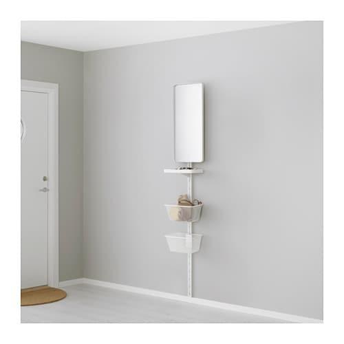algot wandschiene spiegel korb ikea. Black Bedroom Furniture Sets. Home Design Ideas