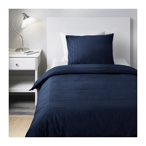 ikea hochwertig 2er satin bettw sche set alvin str blau 155x200 anschauen top ebay. Black Bedroom Furniture Sets. Home Design Ideas