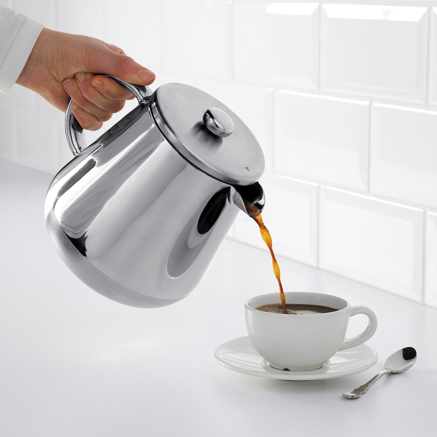IKEA ANRIK Kaffeezubereiter Teezubereiter aus Edelstahl 1,2l Kaffeemaschine NEU
