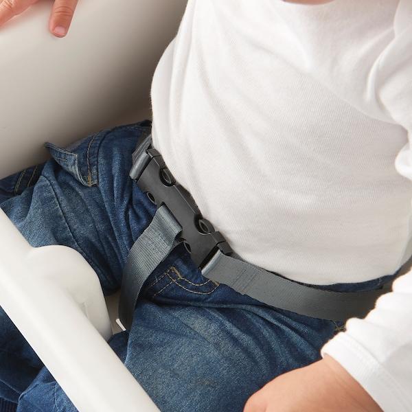 ANTILOP Kinderhochstuhl mit Tablett, weiß/silberfarben