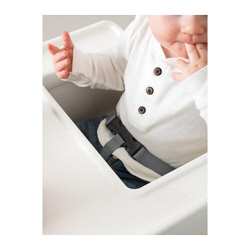 ikea kinderhochstuhl mit ablage weiss hochstuhl kindersitz babystuhl babysitz ebay. Black Bedroom Furniture Sets. Home Design Ideas