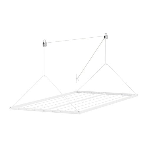 IKEA-ANTONIUS-Haenge-Waeschetrockner-WEIss-9m-fuer-Decke-zum-aufhaengen-Waeschestaender