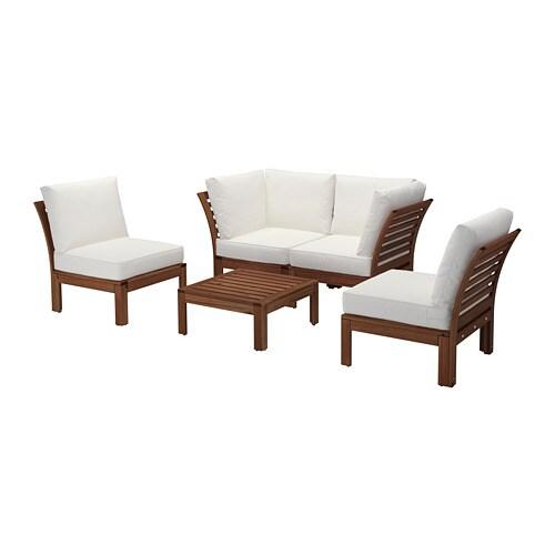 ÄPPLARÖ 4er Sitzgruppe/außen   Braun Las./Hållö Beige   IKEA