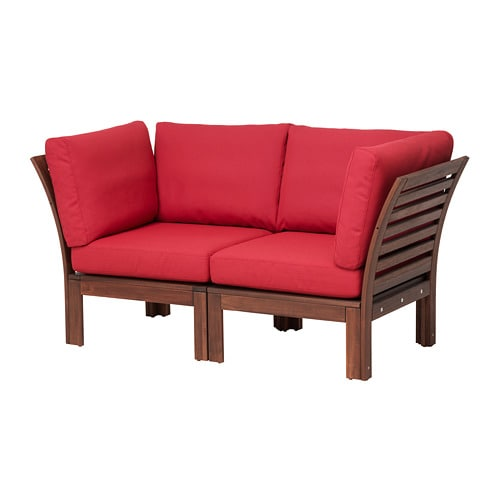 pplar 2er sofa au en braun las fr s n duvholmen rot ikea. Black Bedroom Furniture Sets. Home Design Ideas