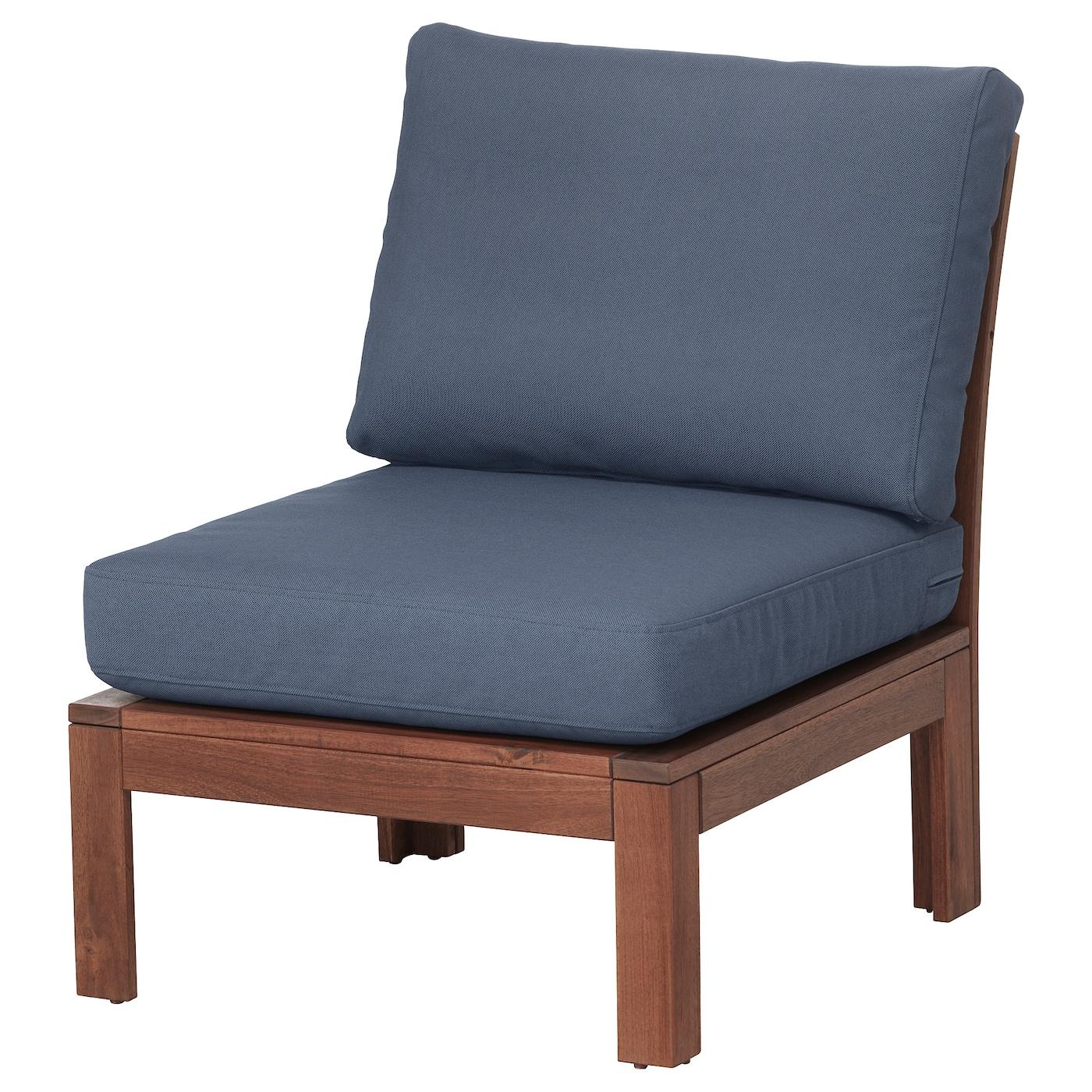 ÄPPLARÖ, Sessel/außen, braun las., blau 292.599.75