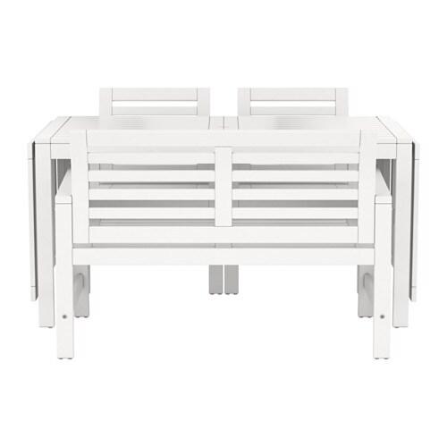 pplar tisch 2 armlehnst hle bank au en wei ikea. Black Bedroom Furniture Sets. Home Design Ideas