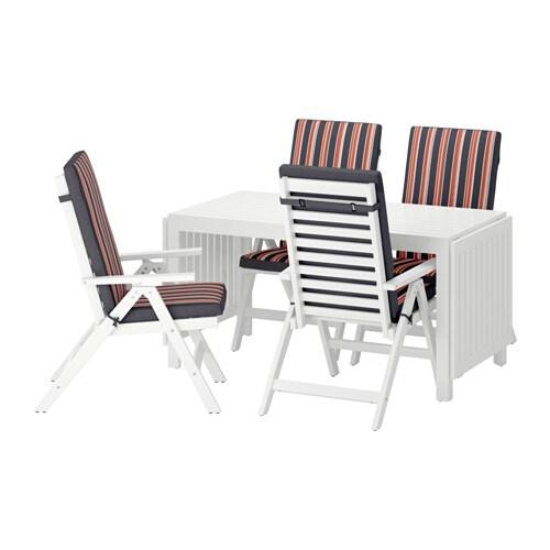 pplar tisch 4 hochlehner au en pplar wei eker n schwarz ikea. Black Bedroom Furniture Sets. Home Design Ideas