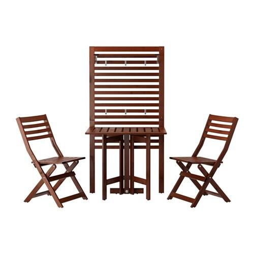 Ikea gartenmöbel äpplarö  ÄPPLARÖ Wandpaneel+Klappti+2 Klappst - Äpplarö für draußen/braun las ...