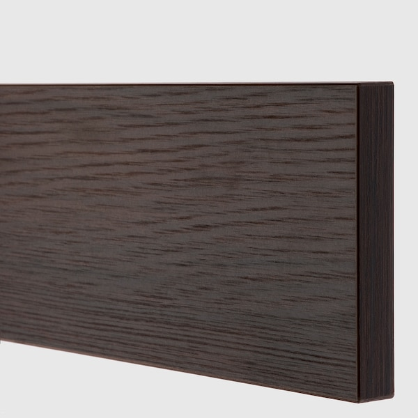ASKERSUND Schubladenfront, dunkelbraun Eschenachbildung, 80x10 cm
