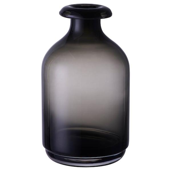 Boho Schlafzimmer ÅTGÅNG Vase, grau 18 cm