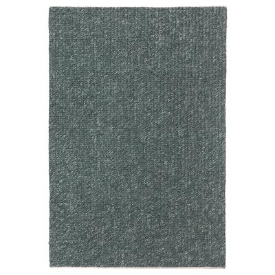 AVSKILDRA Teppich flach gewebt, Handarbeit dunkelgrün, 170x240 cm