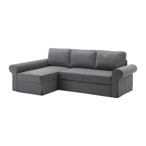 backabro bettsofa recamiere nordvalla dunkelgrau ikea. Black Bedroom Furniture Sets. Home Design Ideas