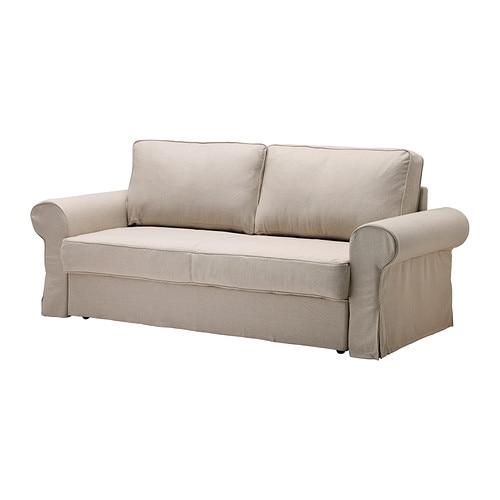 backabro bezug 3er bettsofa risane natur ikea. Black Bedroom Furniture Sets. Home Design Ideas