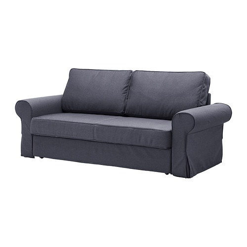 backabro bezug 3er bettsofa jonsboda blau ikea. Black Bedroom Furniture Sets. Home Design Ideas