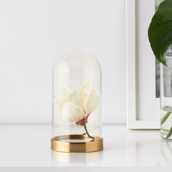 BEGÅVNING Glasglocke mit Teller, 19 cm