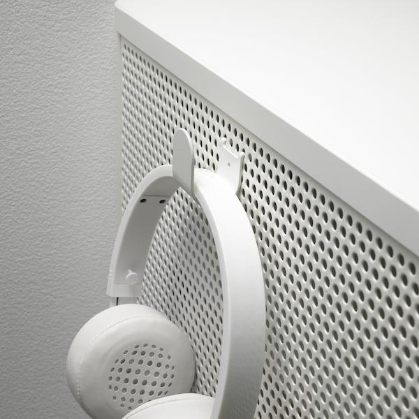 BEKANT Aufbewahrung mit NFC-Schloss, Netz weiß, 61x101 cm
