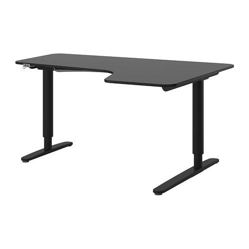 bekant ecktisch rechts sitz steh schwarzbraun schwarz ikea. Black Bedroom Furniture Sets. Home Design Ideas