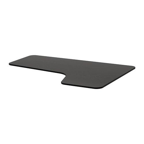 Ikea Bekant Ecktischplatte Rechts Schwarzbraun 000 Günstiger Bei