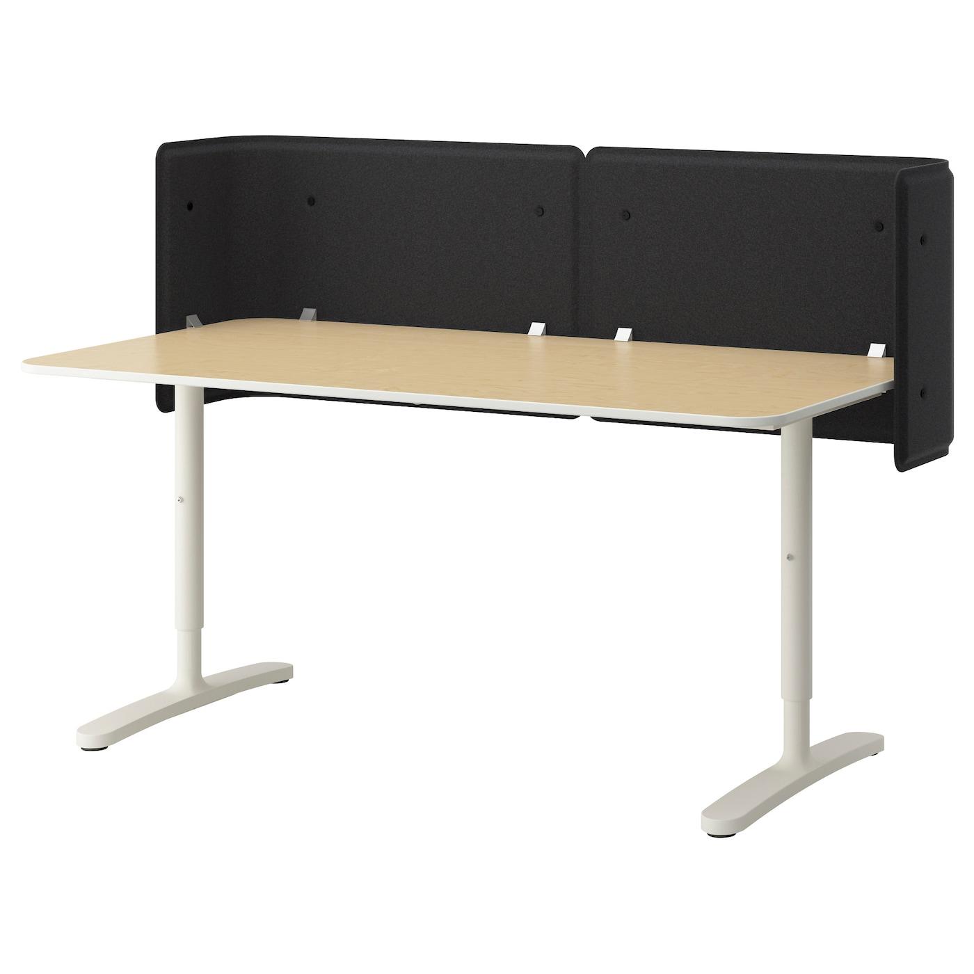 BEKANT | Büro > Bürotische > Computertische | Weiß | Abs | IKEA