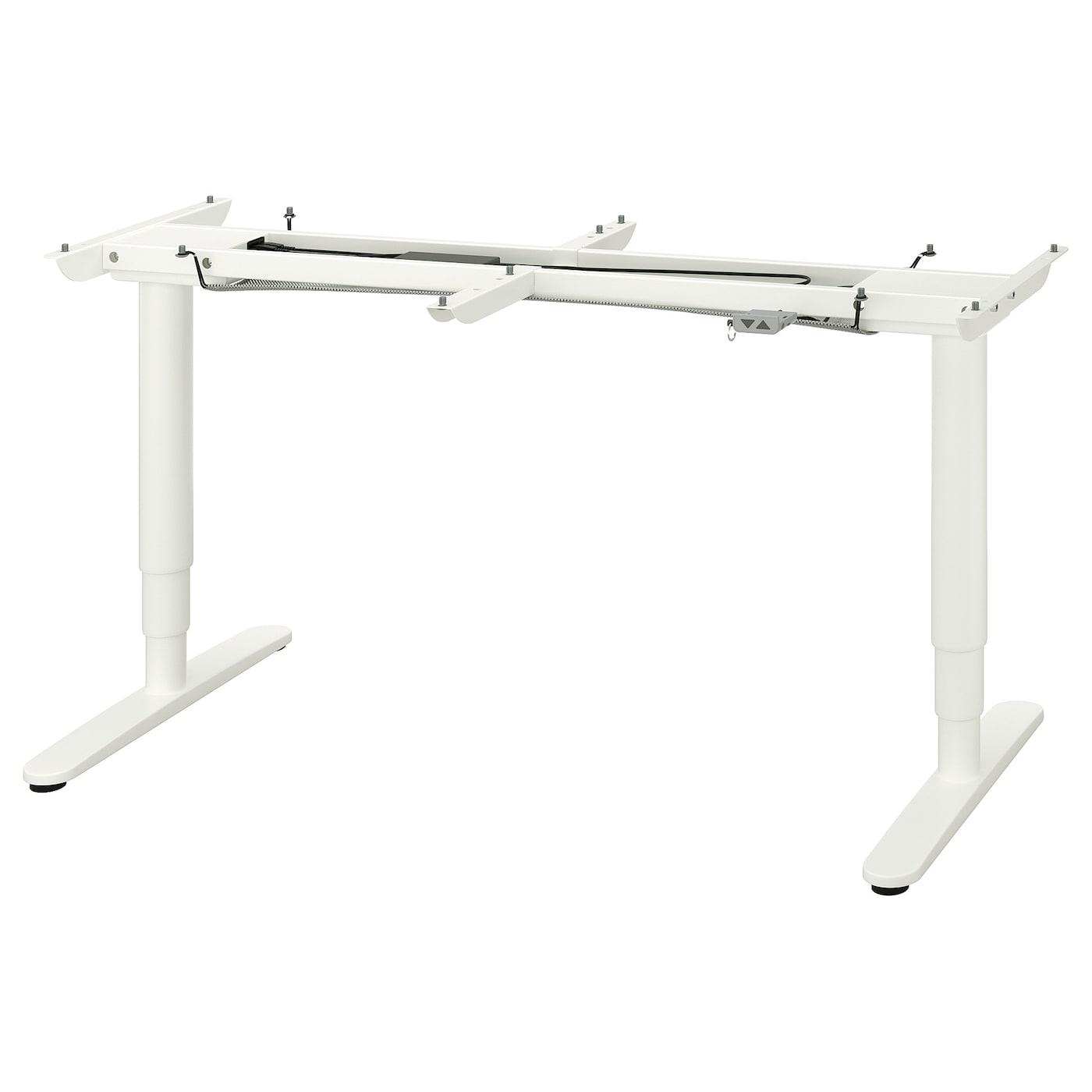 BEKANT Gest. f Tisch sitzsteh el. weiß 160x80 cm