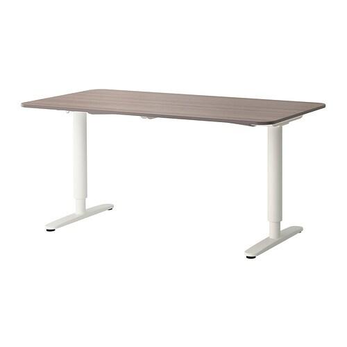 bekant schreibtisch sitz steh grau wei ikea. Black Bedroom Furniture Sets. Home Design Ideas
