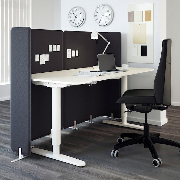 BEKANT Tischplatte weiß 160 cm 80 cm 1.6 cm