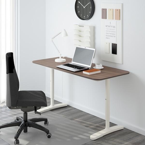 BEKANT Untergestell f Tischplatte, weiß, 140x60 cm