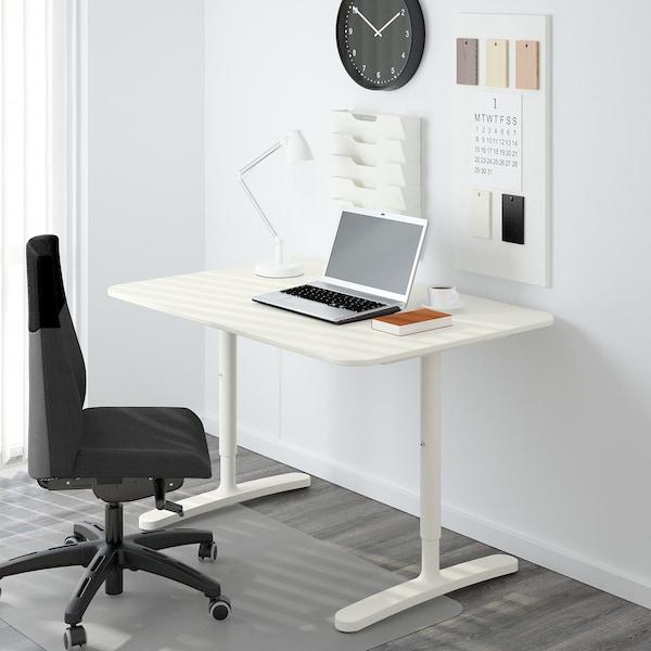 BEKANT Untergestell f Tischplatte, weiß, 120x80 cm