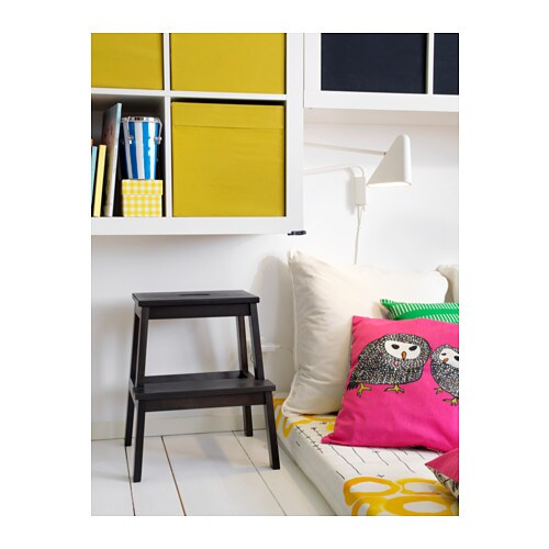 ikea hocker kinderhocker tritthocker fu bank stufenhocker schemel tritt schwarz ebay. Black Bedroom Furniture Sets. Home Design Ideas
