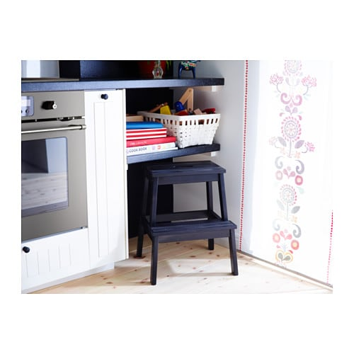 ikea hocker kinderhocker tritthocker fu bank stufenhocker schemel tritt schwarz ebay. Black Bedroom Furniture Sets. Home Design Ideas