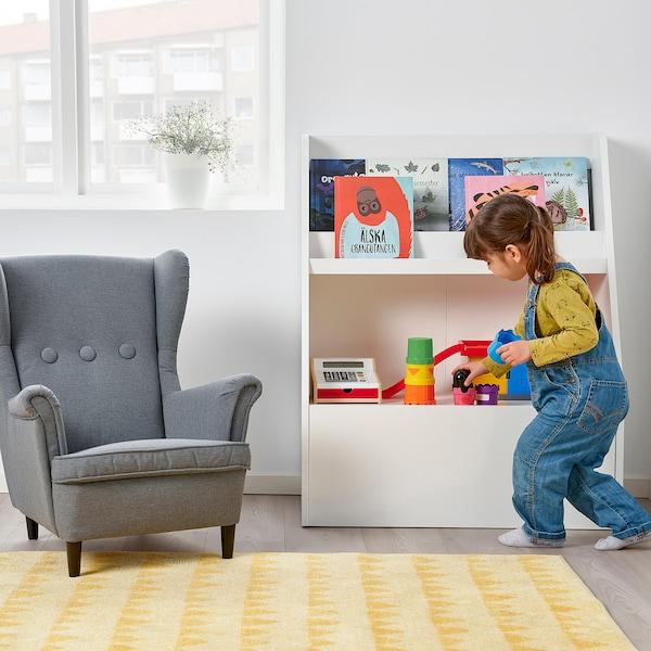 BERGIG Bücherregal mit Aufbewahrung, weiß