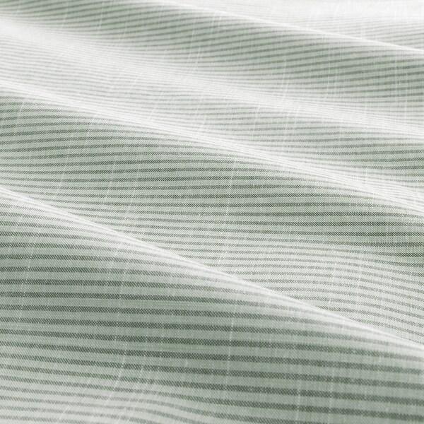 BERGPALM Bettwäscheset, 2-teilig, grün/Streifen, 155x220/80x80 cm