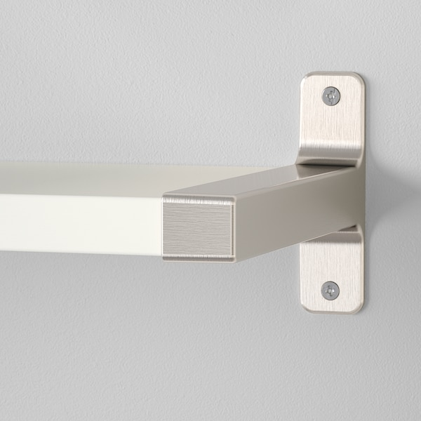 BERGSHULT / GRANHULT Wandregal, weiß/vernickelt, 80x20 cm