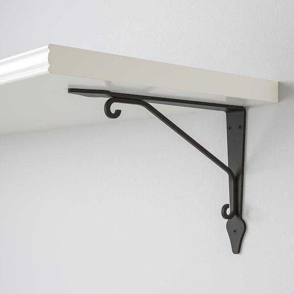 BERGSHULT / KROKSHULT Wandregal, weiß/anthrazit, 120x30 cm