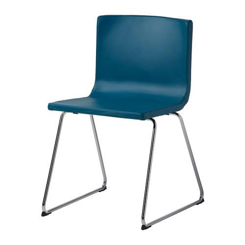 Ikea schreibtischstuhl blau  IKEA BERNHARD Stuhl - verchromt/Kavat blau 0,00% günstiger bei ...