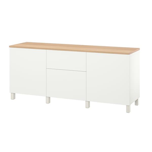 BESTÅ Aufbewahrung mit Schubladen, weiß/Lappviken/Stubbarp weiß, 180x42x76 cm