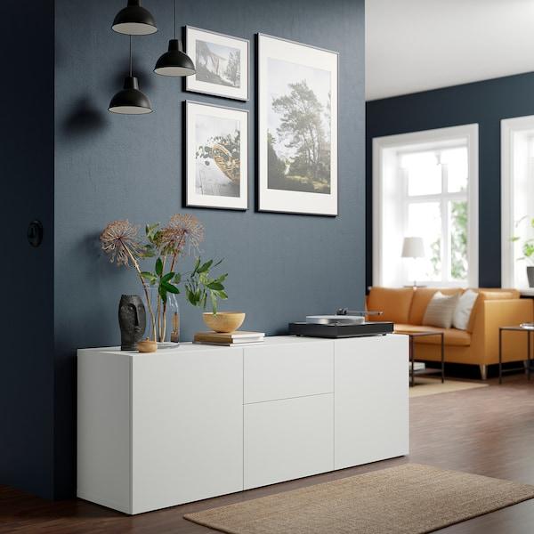 BESTÅ Aufbewahrung mit Schubladen, weiß/Lappviken weiß, 180x42x65 cm
