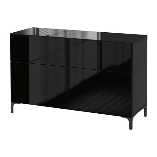 best aufbewahrung mit schubladen schwarzbraun selsviken hochglanz schwarz schubladenschiene. Black Bedroom Furniture Sets. Home Design Ideas