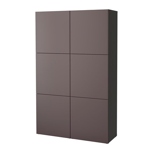 best aufbewahrung mit t ren schwarzbraun valviken dunkelbraun ikea. Black Bedroom Furniture Sets. Home Design Ideas