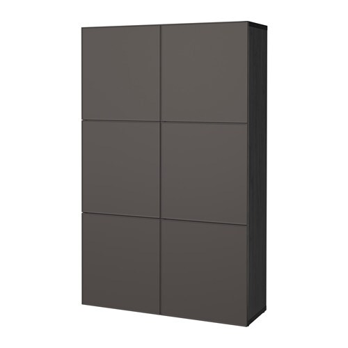 best aufbewahrung mit t ren schwarzbraun grundsviken dunkelgrau ikea. Black Bedroom Furniture Sets. Home Design Ideas
