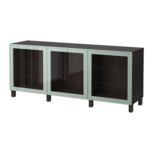 best aufbewahrung mit t ren schwarzbraun glassvik hochglanz hell graugr n klarglas ikea. Black Bedroom Furniture Sets. Home Design Ideas