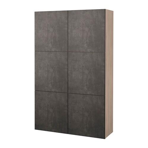 Ikea Besta Türen bestå aufbewahrung mit türen grau las nussbaumnachb kallviken