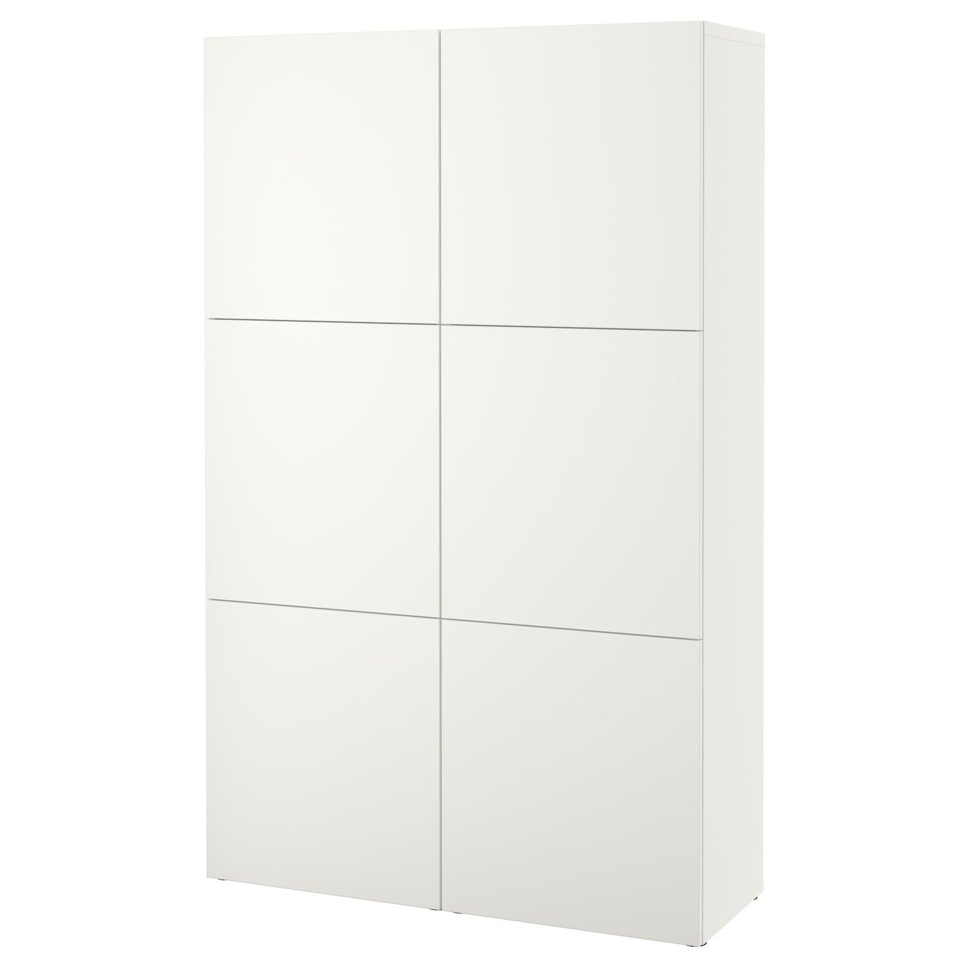 BESTÅ, Aufbewahrung mit Türen, Lappviken weiß, weiß 790.575.26