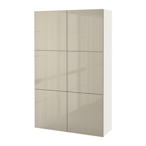 Ikea Besta Türen bestå aufbewahrung mit türen weiß selsviken hochglanz beige ikea