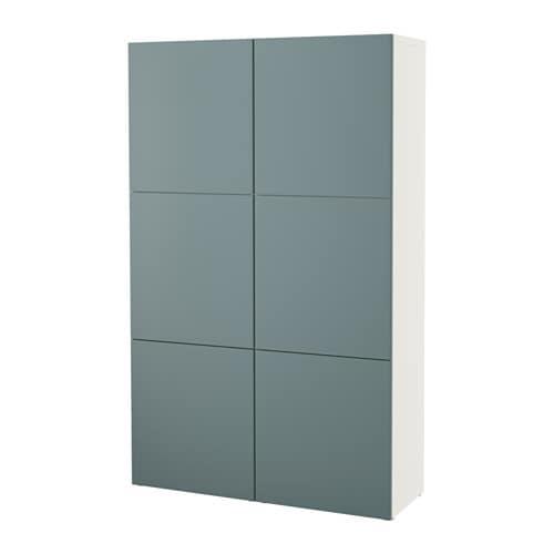 Ikea Besta Türen bestå aufbewahrung mit türen weiß valviken grautürkis ikea